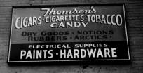 Thompson's Hardware sign