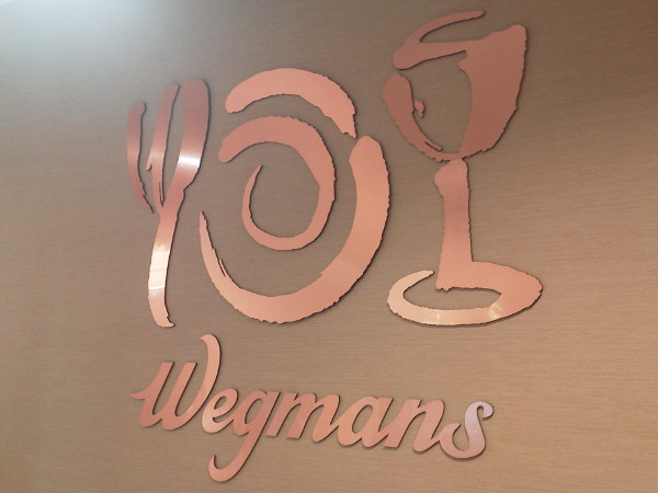 Copper Wall Laser cut sign